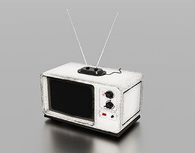 Old TV 3D model game-ready