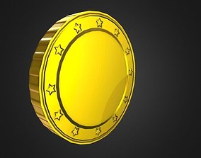 Game-Ready Gold Coin Asset low-poly