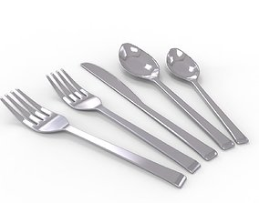 3D model Spoon and fork