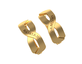 3D printable model Earrings-eight Damiani