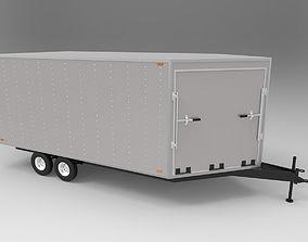 carrier Snowmobile Trailer 3D model