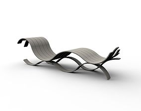 3D model Wave Bench