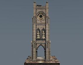 Victorian clock tower 3D