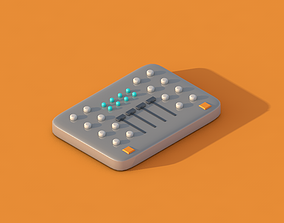 low-poly Dj player controller 3d lowpoly isometric model