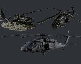 Sikorsky UH60 Black Hawk Military Helicopter 3D model 3