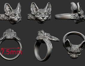 cat sphinx ring 3 FILES 3D printable model