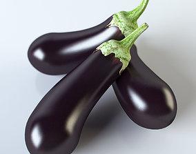Eggplant 3D vegetables