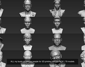 MEGA PACK 71 busts of famous people for 3D printing