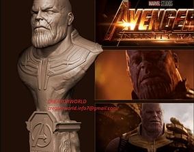 M1018 The Vilen On Avengers End Game Thanos Bust Model