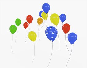 3D model Colorful Balloons Animated