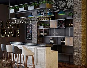 wood-box Loft Bar Collection 3D