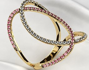 printable Fashion Gold Ring 3D print model