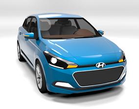 HYUNDAI I20 2015 LOWPOLY 3D model