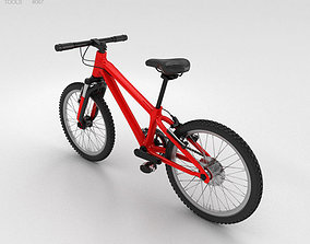 3D model Bicycle Red