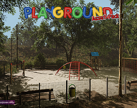 3D asset Low-Poly Playground Pack