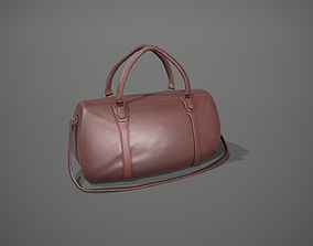 Brown Leather Duffle Bag 3D model