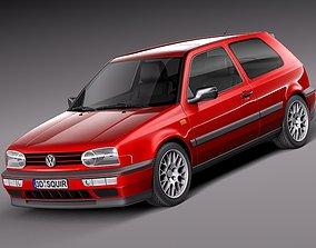 Volkswagen Golf Mk3 GTi -1991-1997 3D