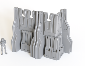3D printable model SciFi Ready-to-print Wall sections 2