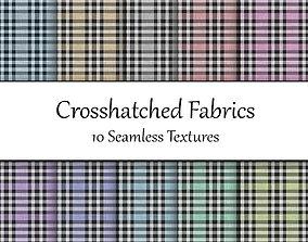 Crosshatched Seamless Textures Set 3D