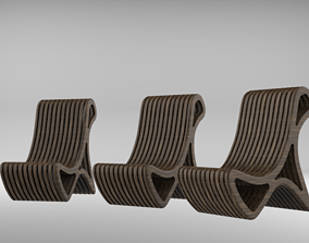 chair wood antique 3D
