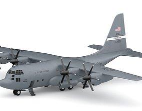Lockheed C-130 Hercules US Military Transport 3D model