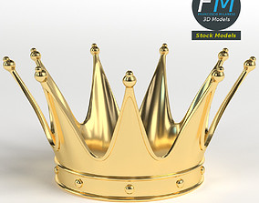 Gold crown 2 3D model