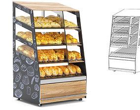 3D Shelf with Bread bread