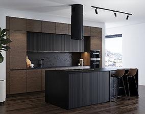 3D Modern kitchen 4