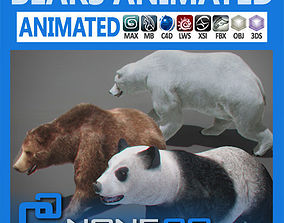 rigged 3D model Pack - Bears Animated