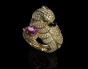 3D printable model Sapphire Parrot Diamond Ring