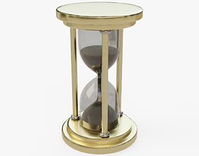 3D model low-poly PBR decor Hourglass