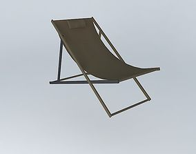 SPLIT long chair taupe houses the world 3D