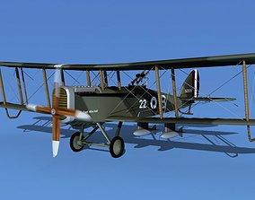 Airco DH-4 V03 Bomber RAF 3D model