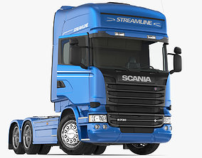 Scania Streamline Truck Rigged 3D model