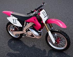 3D model Low Poly PBR Motocross Bike