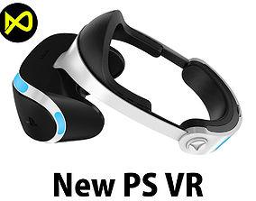 3D New Sony Playstation Virtual Reality Headset 2017