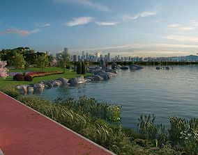 3D model City Lake View animation