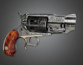 3D model FPS Western Pump Shotgun - Hellfire - WES - PBR 1
