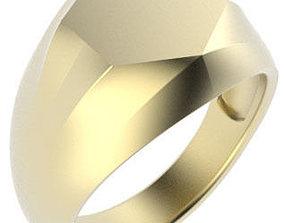 3D printable model Hexagonal Shaped Gents Signet Ring - 3