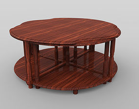 3D asset game-ready dining-table Coffee Table