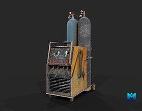gas welding station for games 3D asset