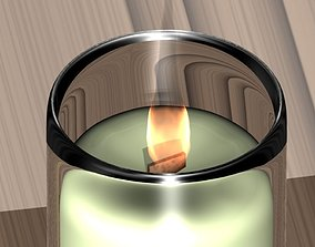 3D printable model Wood Wick Candle