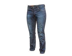Dark blue jeans trousers 3D model