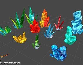 Crystals 3D asset
