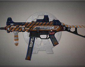 3D asset Ump45-ucc Gun-weapon model