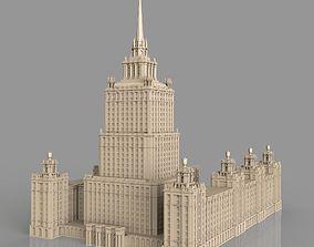 3D model skyscraper Hotel Ukraine Moscow