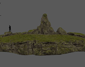 forest rocks 3D model VR / AR ready