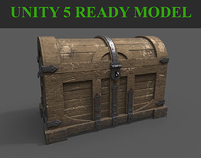 Wooden Chest 3D model game-ready
