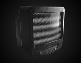 video-game Classic CRT TV 3D model