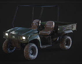 3D asset other Detailed Game Ready Offroad Golf Cart